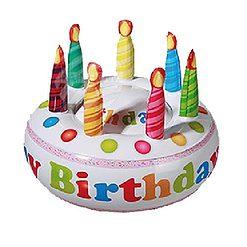 Opblaas verjaardag taart