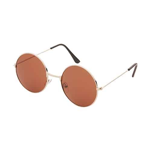 Hippie ronde zonnebril bruine lenzen