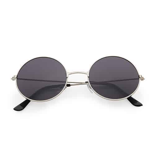 Hippie ronde zonnebril zwarte lenzen