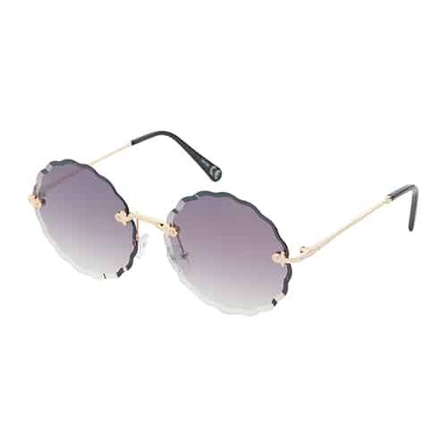 Trendy ronde zonnebril zwarte lenzen