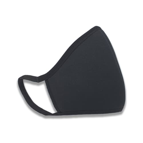 3 laags mondkapje zwart bedrukken