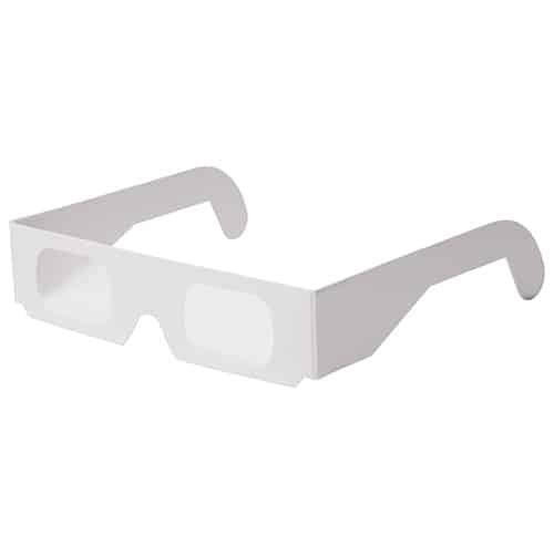 Kartonnen spacebril wit