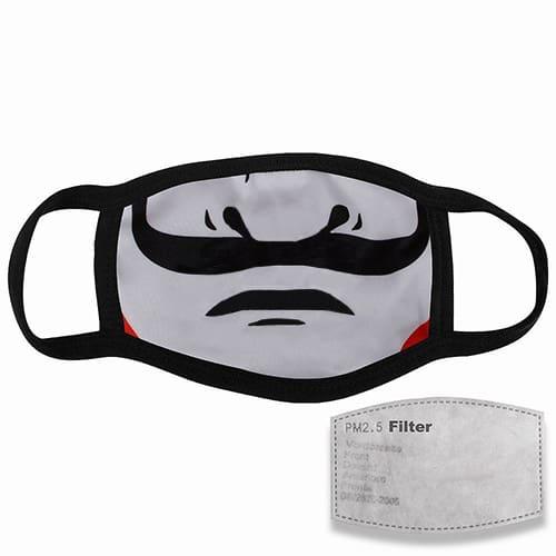 Mondkapje met filter mond met snor