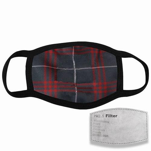 mondkapje met filter tartan
